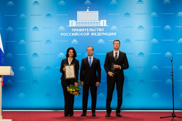 Prime Minister Dmitry Medvedev provided WERTEKS with the Russian Governmental Award for Quality, 2017