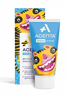 ASEPTA<sup>®</sup> Teens toothpaste (since 8 years)